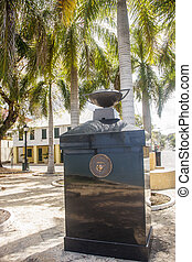 Marine Corp Monument - Marble and brass Marine Corp monument...