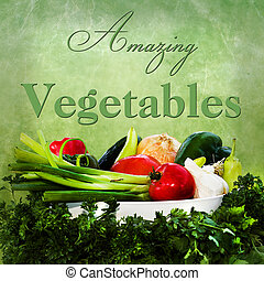 Amazing Vegetables - Square graphic/illustration with...