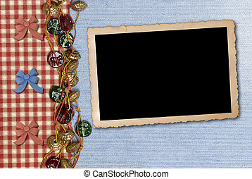 photo frame on retro background - photo framework on retro...