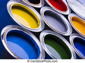Paint and cans - Let your world be colourful