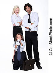 Businessman and his smart family