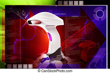Barcode Scanner - Digital illustration of Barcode Scanner...