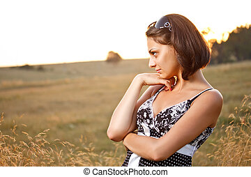 Young pensive woman