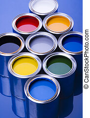 Colorful cans and paints - Let your world be colourful