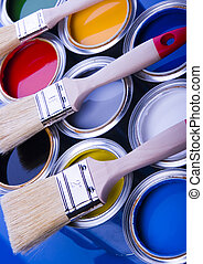 Paint and brushes - Let your world be colourful!