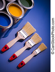 Paint and brushes - Let your world be colourful