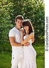 Portrait of love couple