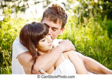 Young couple in love - Portrait of young couple in love