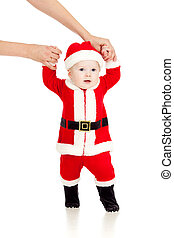 first steps of Santa claus kid