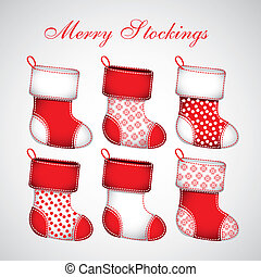 Red Christmas stockings - Illustration of Red Christmas...