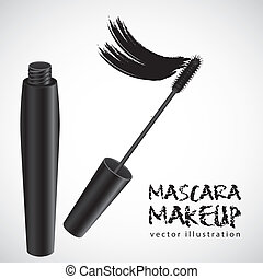 mascara illustration isolated on white background, vector...
