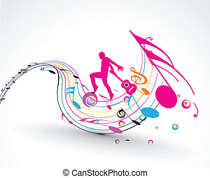 Abstract music dance background for music event design...
