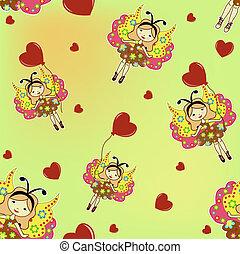 The sample of children's wallpaper