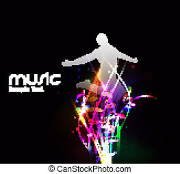 Abstract music dance background for music event design....