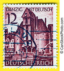 GERMANY - CIRCA 1938: A stamp printed in Germany showing the...