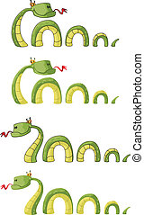 big smile snake - illustration of a big smile snake