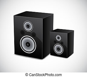 Two loudspeakers EPS10 vector