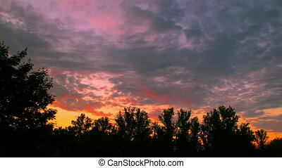 sunset clouds time lapse t3359