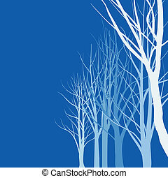 Abstract Trees - abstract vector illustration of slender...