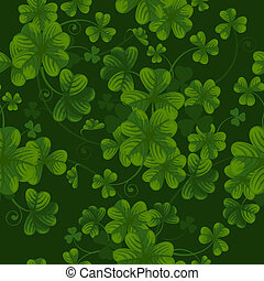 Seamless pattern with clover - Excellent seamless pattern...