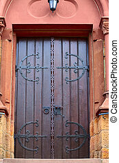 Church door - A church door in small city Saarburg,...