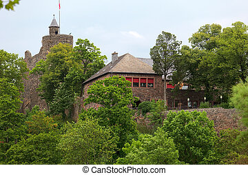 OLd castle ruin - A old castle ruin in city Saarburg,...