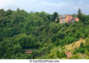 Lonely house - A lonely house, by small city Saarburg,...