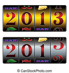 new year in slot machine - new year 2013 in slot machine in...
