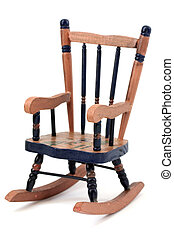 Rocking chair - Wooden rocking chair isolated on white...