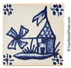 Antique dutch tile
