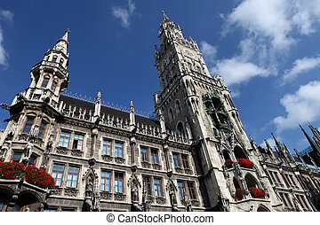 New Town Hall Neues Rathaus in Munich, Germany