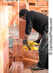 Man using a power tool