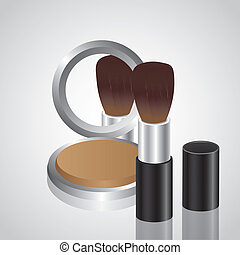 Illustration of makeup