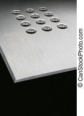 Metallic keypad