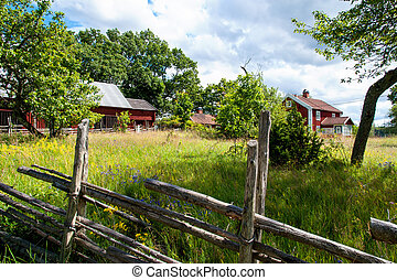 Farm in south-eastern Sweden - Typical farm in the south of...