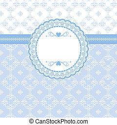Greeting card with vintage elements