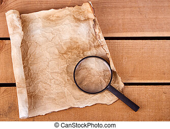 Blank map with magnifying glass - Blan map with magnifying...