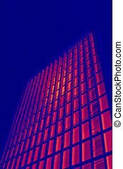 tall office building in thermal imaging simulation - tall...