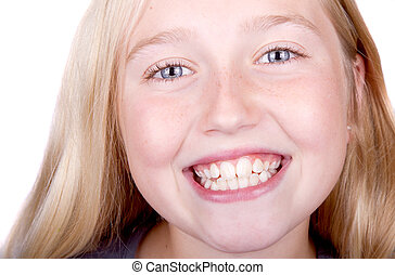 teen smiling close up