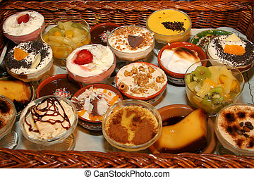 lots of small desserts