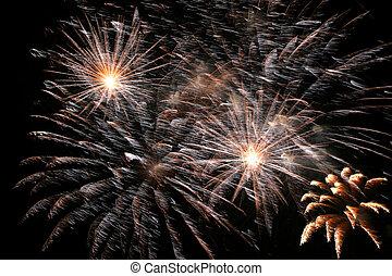 celebration sparkling fireworks