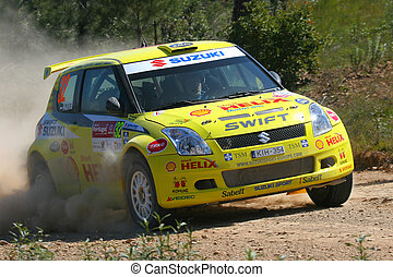 world rally car - suzuki world rally car racing on the...