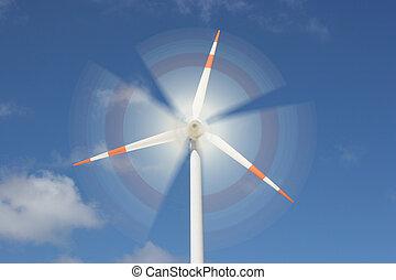 motion effect on wind mill power generator