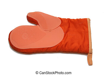 orange kitchen glove