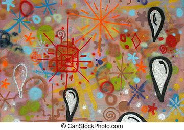grafitti color image of an abstract strange drawing