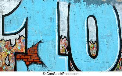 grafitti image of number ten