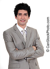 portrait of young businessman in a suit