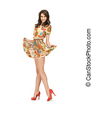 lovely woman in elegant dress - picture of lovely woman in...