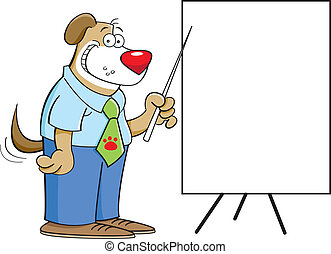 dog with a chart