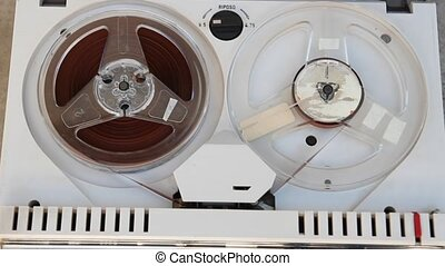 old tape recoder - old tape recorder view from above